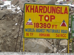The Highest motorable pass in the world - Khardung La